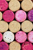 Wine corks close-up background