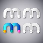 picture of letter m  - Abstract Vector Logo Design Template - JPG