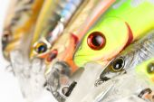 Plastic Fishing Lures, Extreme Close-up