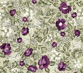 Retro Seamless Damask Flower Pattern