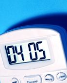 image of tick tock  - Close up of a Digital timer clock