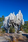 HELSINKI, FINLAND - OCTOBER 28: The Sibelius Monument on October 28, 2012 in Helsinki, Finland. This monument is dedicated to the Finnish composer Jean Sibelius. It was unveiled on September 7, 1967.