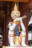 Thai Giant Statue With Teak Chapel