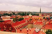 Prague red roof view