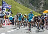 Team Astana On Col Du Lautaret