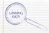Finding A Winning Idea, Magnifying Glass Design