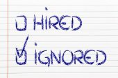 Candidate Ignored: Negative Recruitment Process Outcome