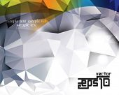 eps10 vector triangular polygon chrome background