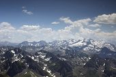 stock photo of breathtaking  - breathtaking view of pyrenees from pic du midi in france - JPG