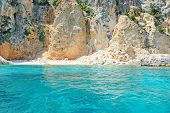 stock photo of emerald  - emerald green water in Cala Gonone - JPG