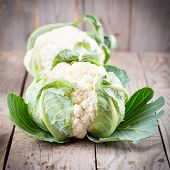 cauliflower with leaves