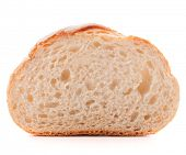 picture of hunk  - Hunk or slice of fresh white bread isolated on white background cutout - JPG