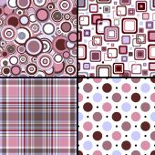Set four seamless patterns