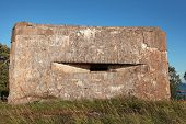 Old Concrete Bunker From Ww2 Period On Totleben Fort Island In Russia