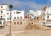 Ancient Fortress And Living Houses Of Medina. Tangier, Morocco