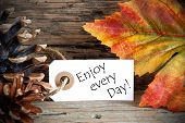 Autumn Label With Enjoy Every Day