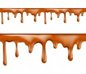 Sweet caramel drips seamless patterns