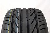 picture of asymmetric  - Brand new modern summer car tire detail