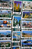 Postcard rack in city centre, Malaga.