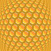 Design Warped Honeycomb Pattern