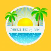 Summer time is here - vector illustration