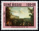 Postage Stamp Guinea-bissau 1989 Armed Mob, Painting