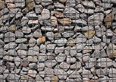 Rocks In Solid Metal Grid Construction