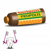 Toothpaste with propolis
