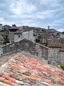 View Over The Rooftops Of The Ancient City Of Balazuc In The Ardeche, France