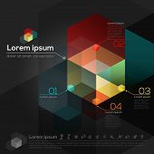 Hexagon Geometric Shape Abstract Graphic Design Template Layout