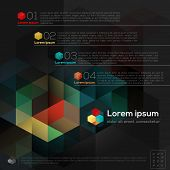 Geometric Hexagon Shape Abstract Graphic Design Infographic Layout