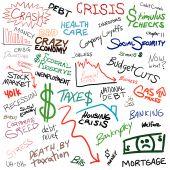 Wirtschaft Doodle montage
