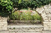 Stone Wall With Greenery
