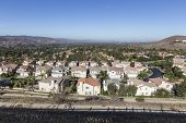 Comfortable suburban neighborhood in Ventura County's Simi Valley near Los Angeles, California.
