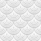 White paper circles seamless pattern