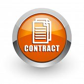 contract orange glossy web icon