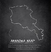 Armenia map blackboard chalkboard vector