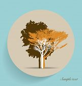 Tree silhouettes. Vector illustration.