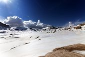 Snow Plateau At Nice Day