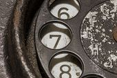pic of rotary dial telephone  - Old black telephone - JPG
