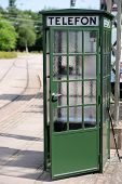 Old Green Phone Booth
