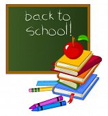 Back to School Design isolated on white background. Raster version.
