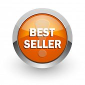 best seller orange glossy web icon