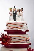 Wedding Cake with Funny Figurines