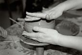 Master Potter And Potter's Wheel