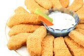 Golden Chicken Fingers And Veggies