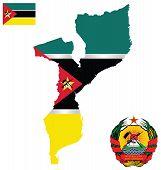 Republic of Mozambique Flag