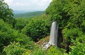 Waterfall And Allegheny Mountains