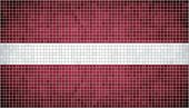 Mosaic Flag of Latvia