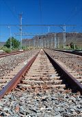 Train station in the Karoo